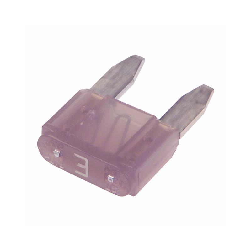 Mini Blade Fuse, 3 Amps, Violet