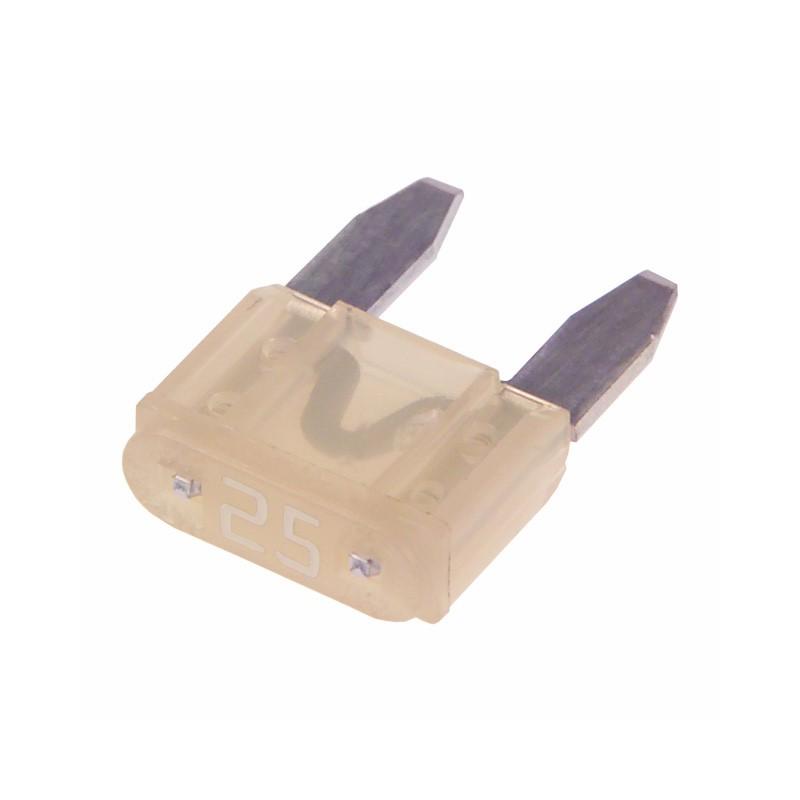 Mini Blade Fuse, 25 Amps, Clear