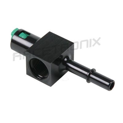 "Adapter, QC 3/8"" M>F, -8 ORB Female Port"