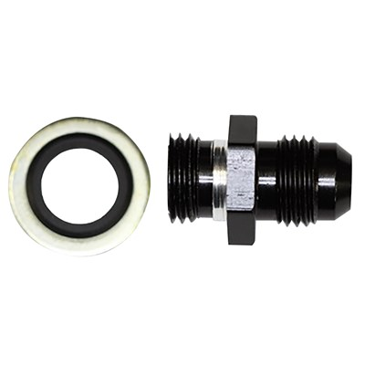 Metric Adapter, -6AN » 14x1.5mm, AL, BLK