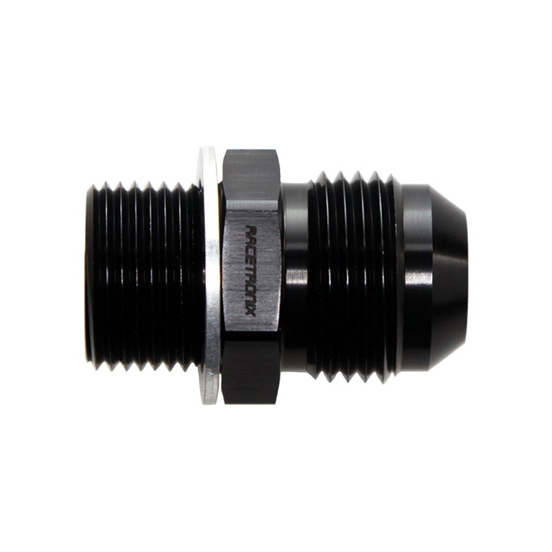 Adapter, -10AN Male» 20x1.5mm Male, BLK