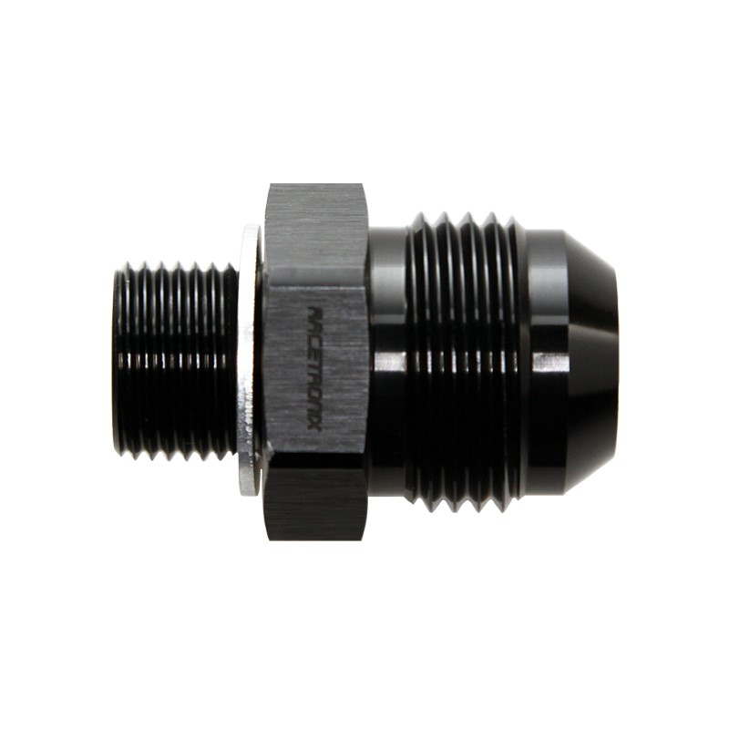 Adapter, -12AN Male» 18x1.5mm Male, BLK