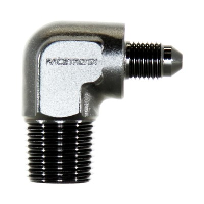 "90° Adapter, -3AN » 3/8"" NPT Male, Black"