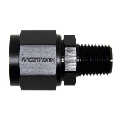 "Adapter, -8AN » 1/4"" MPT, BLACK"
