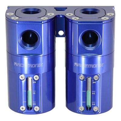 Catch Can Kit, Dual -10AN GV, Bkt, BLUE