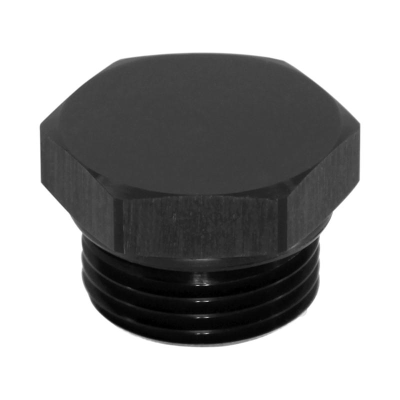Plug, ORB -12AN, Hex Cap, AL-BLK