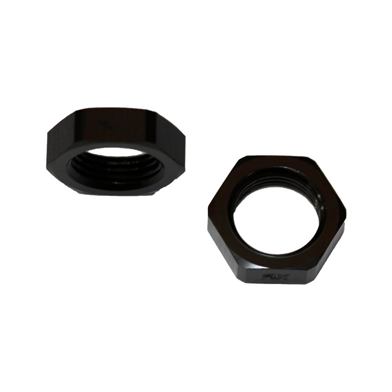 Bulkhead Nut -8AN, AL BLACK