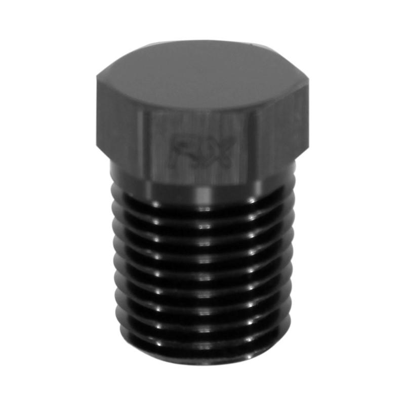 """Hex Cap Pipe Plug 1/4"""" MPT, Black"""
