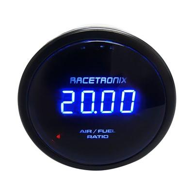 Wide-band Air/Fuel Ratio (AFR) Gauge with Wide-Band Oxygen Sensor, Digital/Analog LED Display
