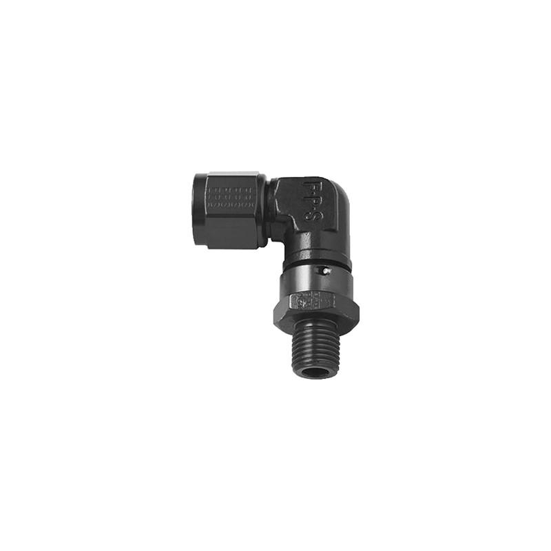 Adapter 90° Metric, -8ANM»14x1.5mm, BLK