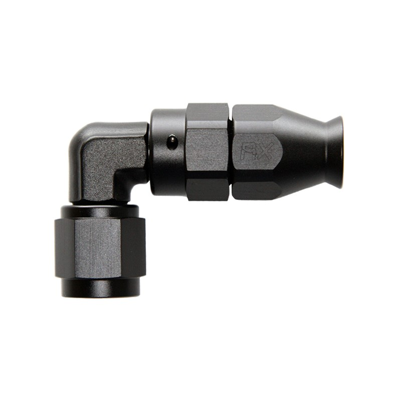 Fitting, PTFE 90° FRG -4AN Fml - BLACK