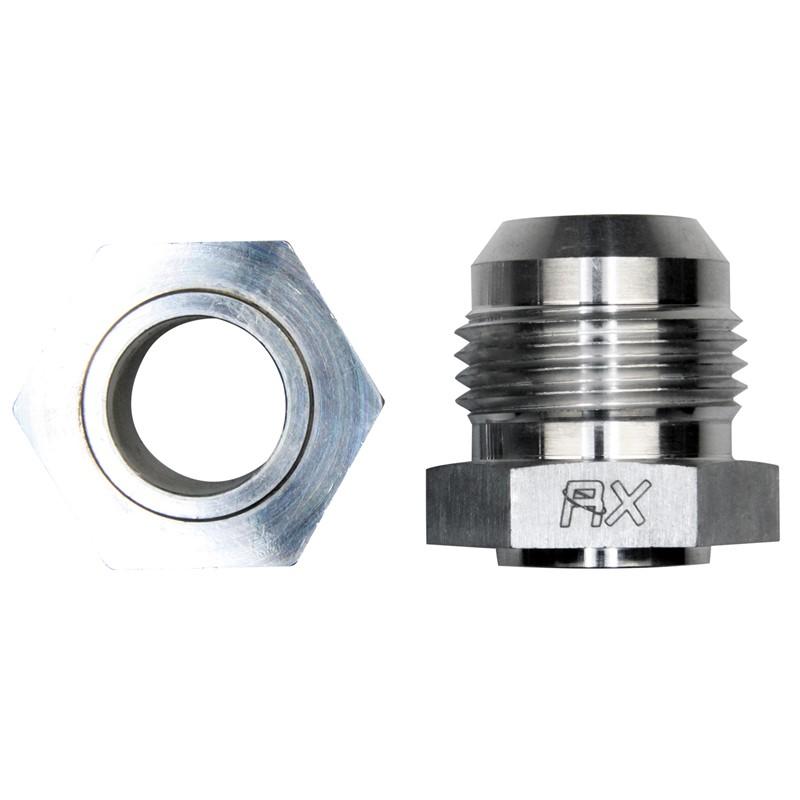 Weld Bung, -12AN Male, Hex Aluminum