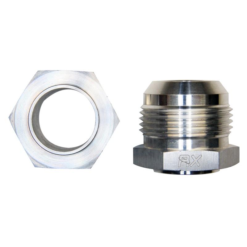 Weld Bung, -16AN Male, Hex Aluminum