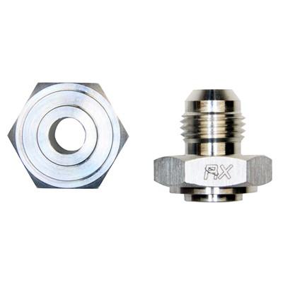 Weld Bung, -6AN Male, Hex Aluminum