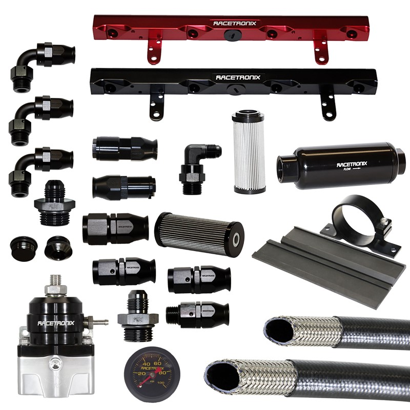 Fuel Rails, Billet Aluminum, LS1 - RED