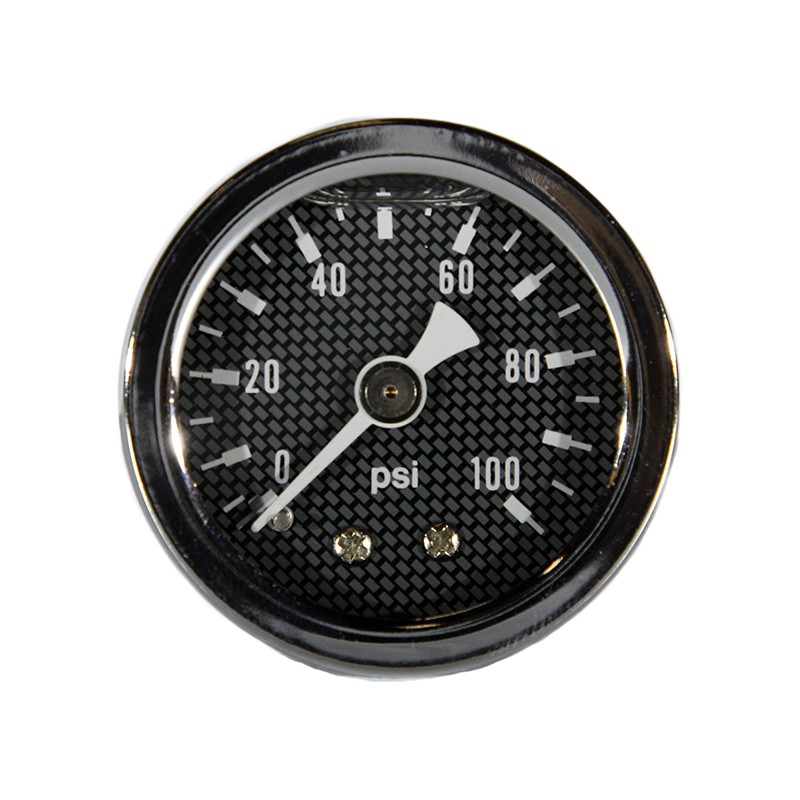 "Gauge, 100PSI, 1.5"" Liquid, CF/SILVER"