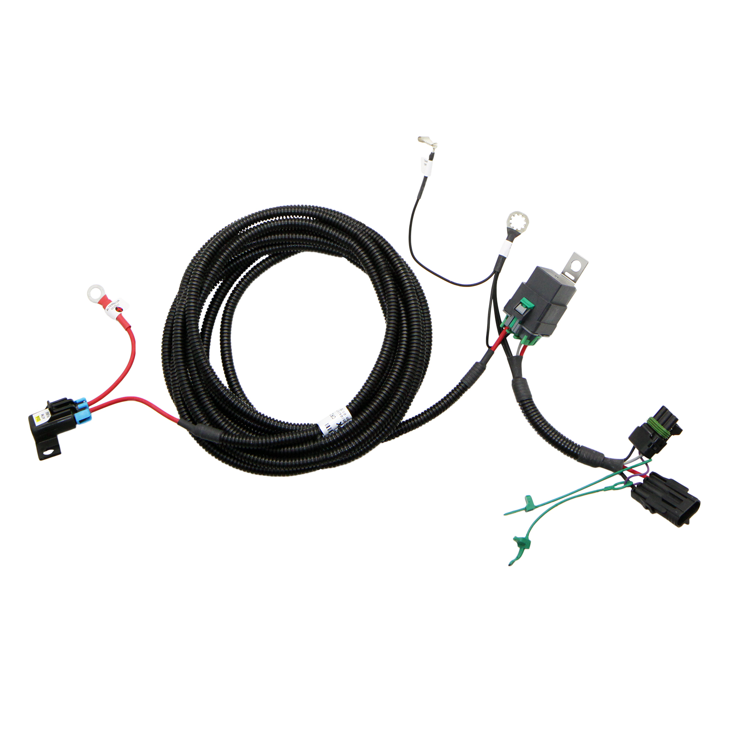 Black Wire Harness Smart Wiring Electrical Diagram Loom With Cable To Ac Plug Connector Assembly On