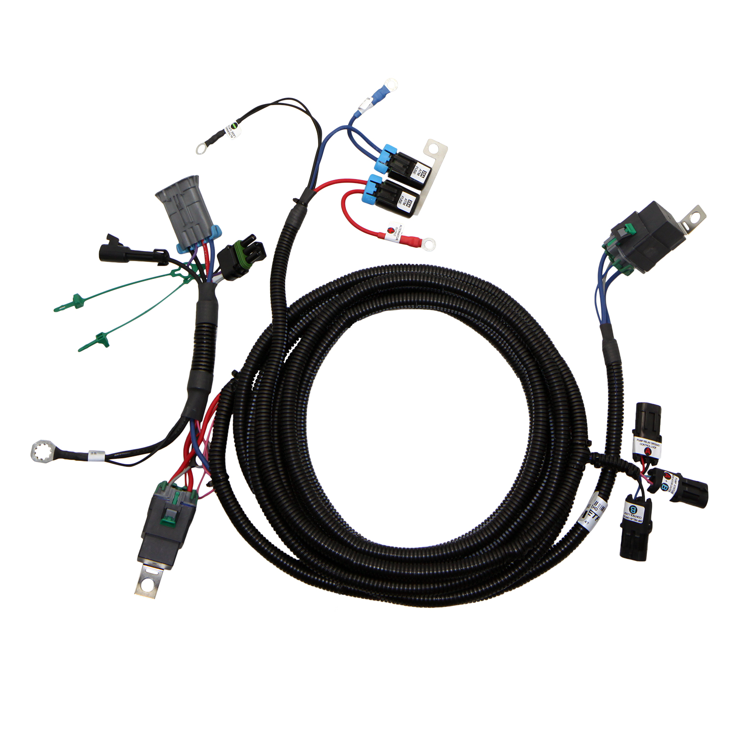 g7 dp fuel pump wiring harness (fpwh 021hd) dual pump power GM Fuel Pump Wiring Diagram g7 dp fuel pump wiring harness
