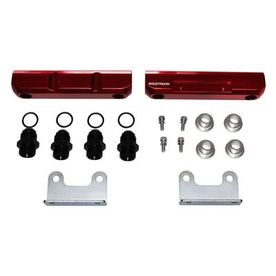 Fuel Rails, Billet Alm, Subaru EJ20, RED
