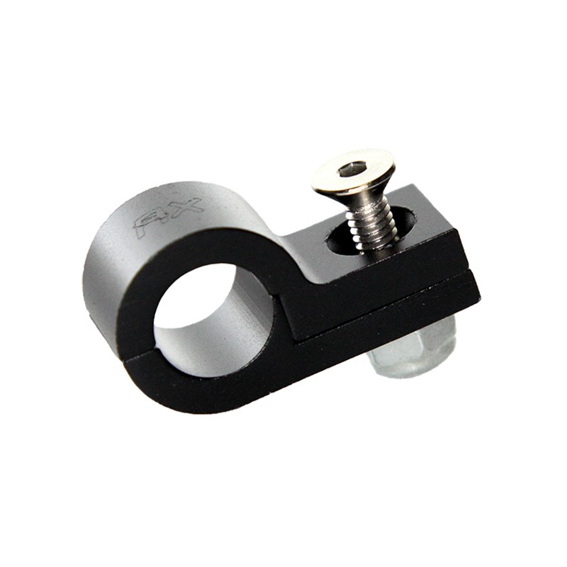"P-Clamp, Aluminum 7/16"" (#8-32), Black"