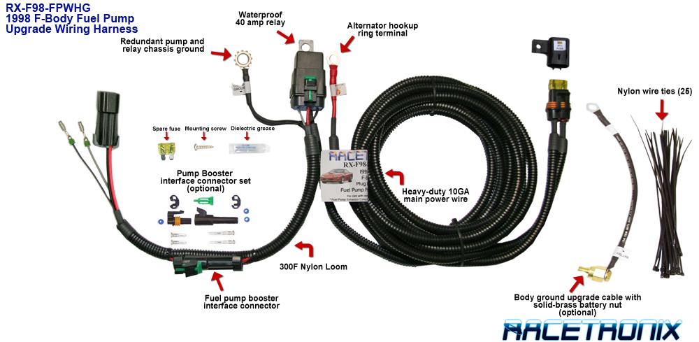 f98 fuel pump wiring harness fpwh 002 fuel pump hotwire rh racetronix biz GM Radio Wiring Harness GM Radio Wiring Harness Diagram