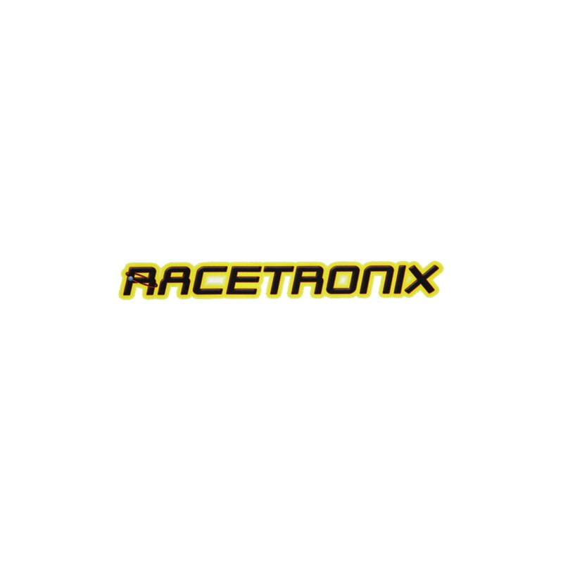 Sticker, Racetronix, Color, Die Cut