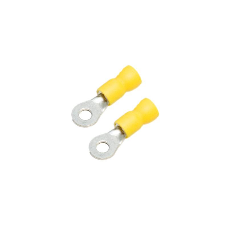 Ring Terminal, Yellow, 10-12 Gauge, #8