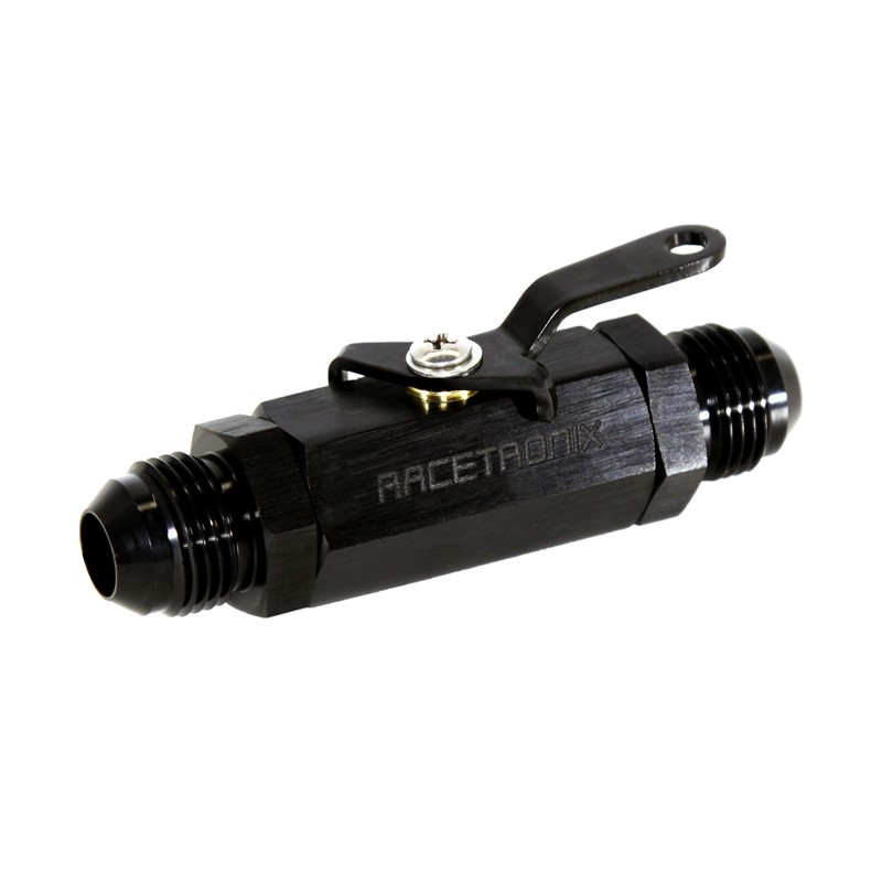 Shut-Off Valve, -8AN Male, BLACK