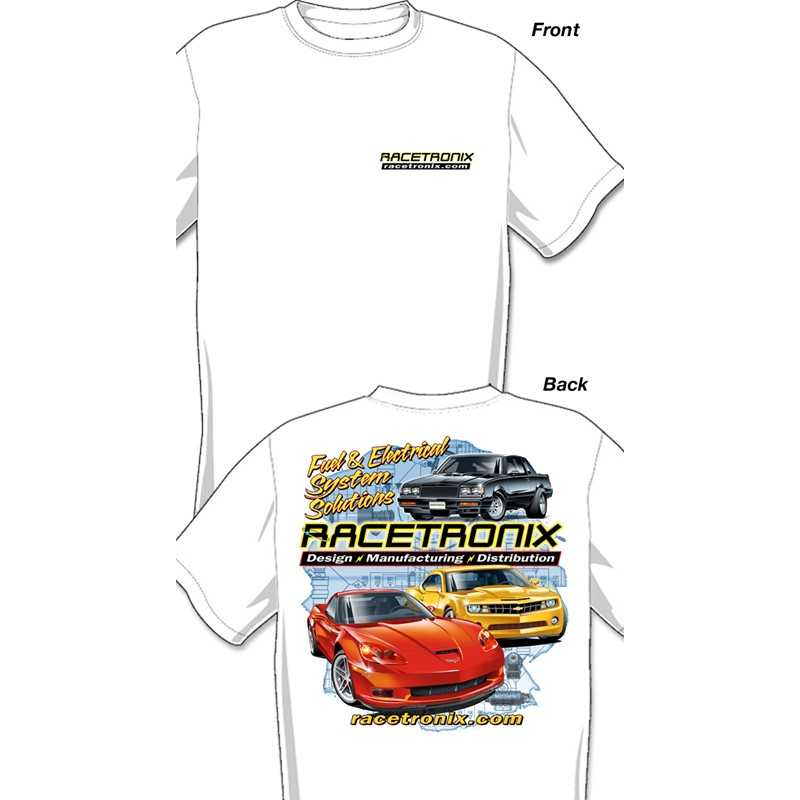 RX T-shirt,  Cotton, White, X-Large