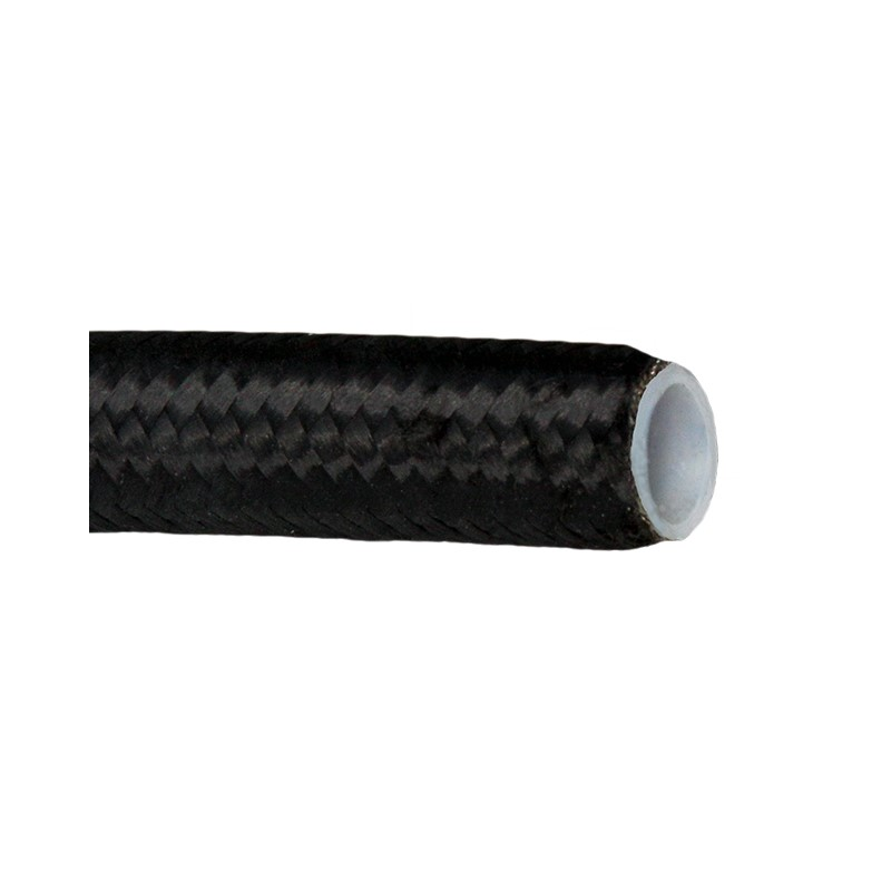 -10 Hose, Teflon, SS/Nylon Braid, BLACK