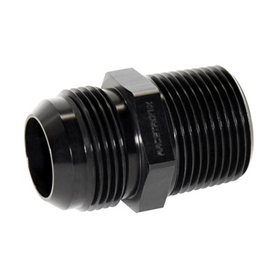 "Adapter, -16AN Male » 1"" MPT, BLACK Image 2"