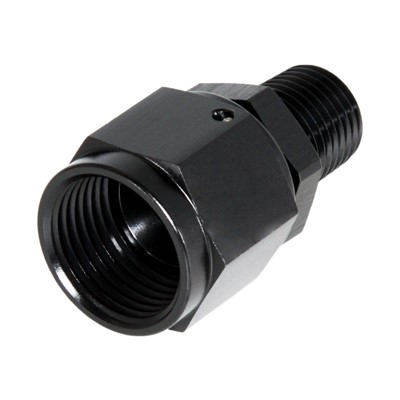 "Adapter, -8AN » 1/4"" MPT, BLACK Image 1"