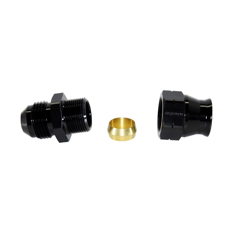 "Adapter, -8AN Male » 3/8"" Tube, BLACK Image 3"