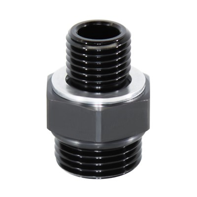 Adapter, -8 ORB Male » M14x1.5 Male, BLK Image 1