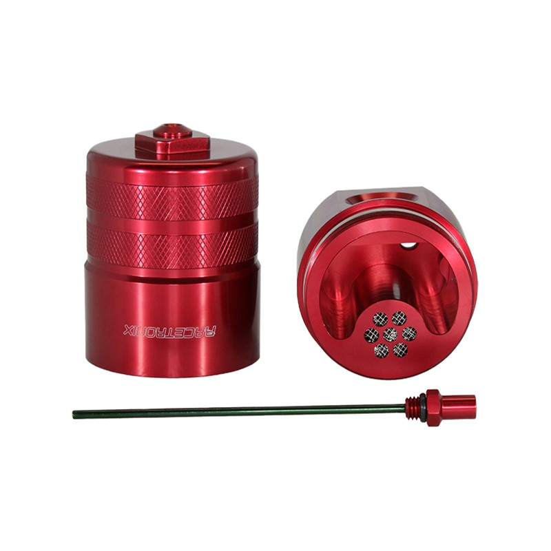 Catch Can Kit, -10AN Dipstick, Bkt, RED Image 4