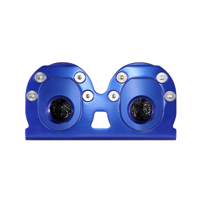 Catch Can Kit, Dual -10AN GV, Bkt, BLUE Image 2