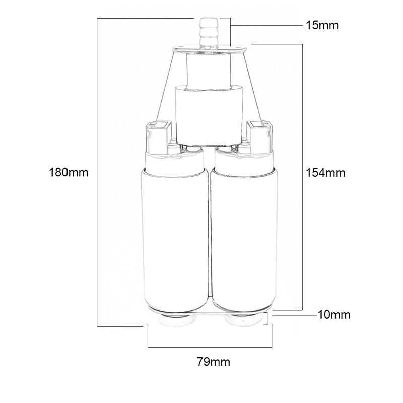 Dual Pump Assembly 510LPH+, E85 Image 1