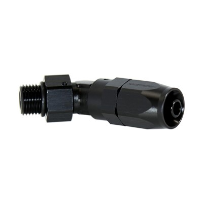Fitting, 45° Rubber -6 ORB Male, BLK Image 1