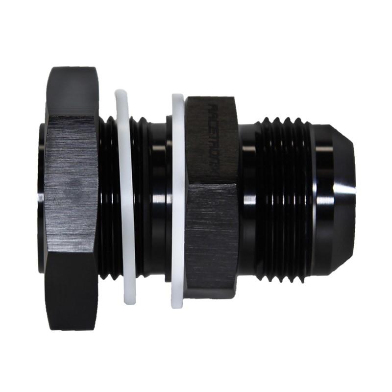 Fuel Cell Bulkhead, -16AN Male, BLACK Image 3