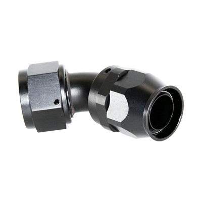 Fitting, PTFE 45° -16AN Female, BLACK Image 1