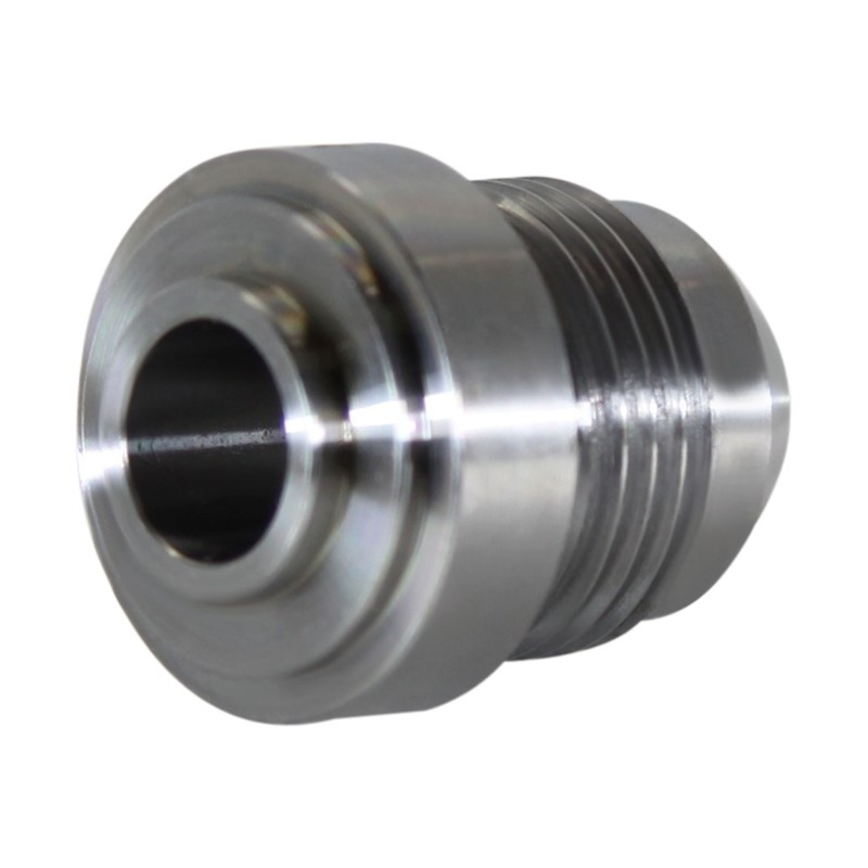 Weld Bung, -8AN Male, Round Mild Steel Image 2