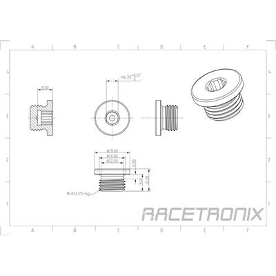 Metric Hex Plug, M14x1.25, BLACK Image 1