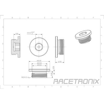 Metric Hex Plug, M22x1.5, BLACK Image 1