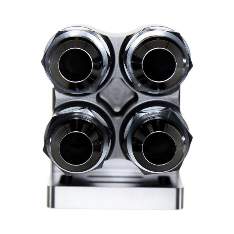 Quad Manifold, -16ORB»4x-12ORB, HAL BLK Image 9