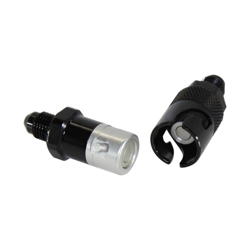 QD, Dry Brake -4AN Aluminum, BLACK Image 2