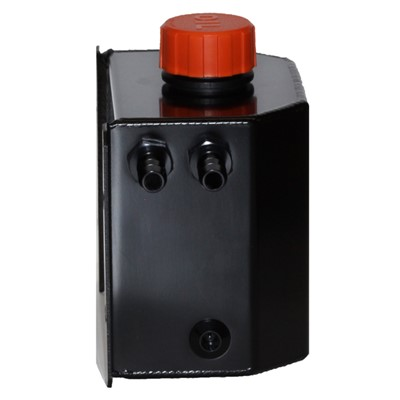 Catch Tank, 1 Litre 8AN, Aluminum, BLACK Image 1