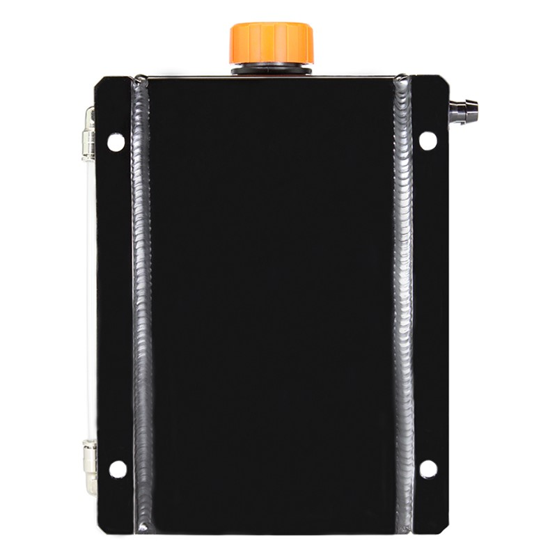 Catch Tank, 2 Litre 6AN, Aluminum, BLACK Image 1