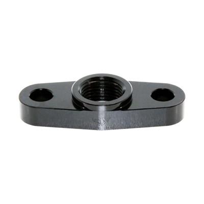 Turbo Drain, 2-Bolt -8AN 50.8mm, BLK Image 1